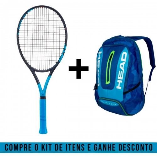 Kit Raquete de Tênis Graphene 360 Instinct MP Reverse 16x19 300g + Mochila Tour Team Azul - Head
