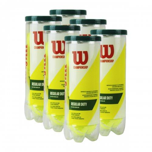 Bola de Tênis Championship Regular Duty Saibro Pack c/ 06 tubos - Wilson
