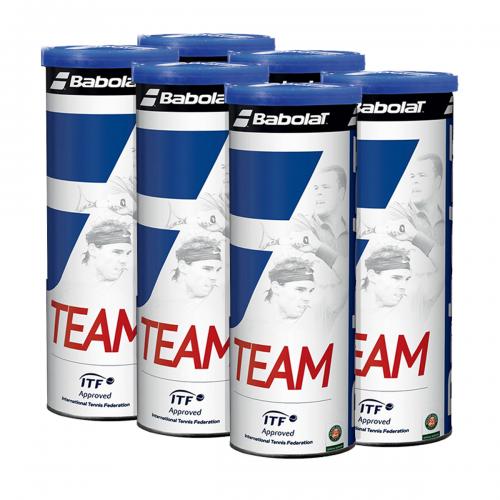 Bola de Tênis Team Pack c/ 06 Tubos - Babolat