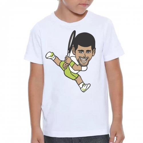 Camiseta Infantil Djokovic Branca - Casa Do Tenista