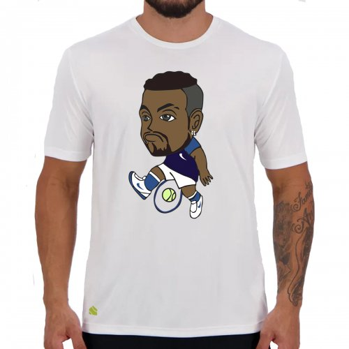 Camiseta Kyrgios Branca - Casa Do Tenista