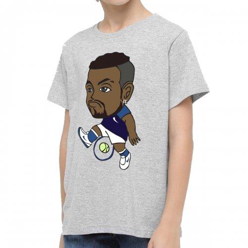 Camiseta Infantil Kyrgios Mescla Cinza - Casa Do Tenista