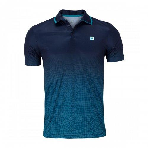 Camiseta Polo Aztec Box Net - Fila - MARINHO/AZUL PETROLEO