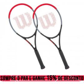 Imagem - 02 Raquetes de Tênis Clash 100L 16x19 280g  - Wilson