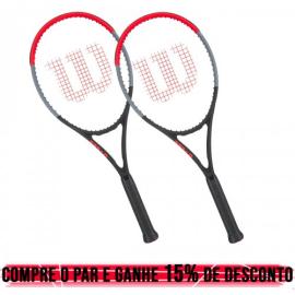 02 Raquetes de Tênis Clash Tour 100 16x19 310g L3 - Wilson