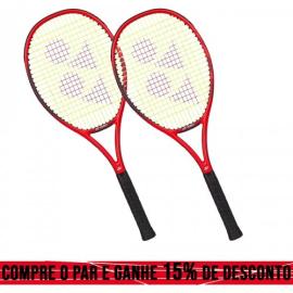 Imagem - 02 Raquetes de Tênis Vcore 100 16X19 300g Vermelha - Yonex