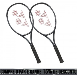02 Raquetes de Tênis Vcore 100 16X19 300g Preta - Yonex