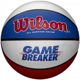 Imagem - Bola de Basquete Game Breaker Vermelho Branco e Azul - Wilson