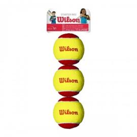 Imagem - Bola de Tênis Infantil Vermelha Pacote c/ 03 Bolas - Wilson