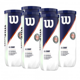 Imagem - Bola de Tênis Roland Garros Pack C/ 6 Tubos - Wilson