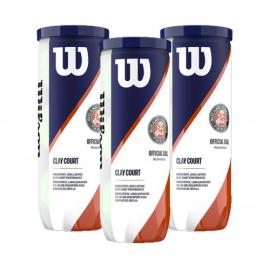 Imagem - Bola de Tênis Roland Garros Clay Pack C/ 3 Tubos - Wilson