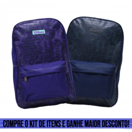 Imagem - Kit 02 Mochilas Lazer Wtix15044 Azul e Roxo - Wilson