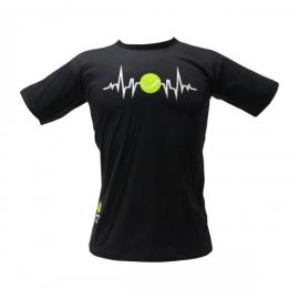 Imagem - Camiseta Batimento Cardiaco Preta - Casa do Tenista