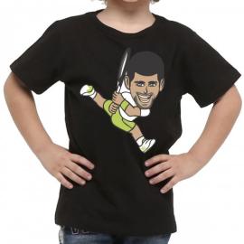 Imagem - Camiseta Infantil Djokovic Preta - Casa Do Tenista