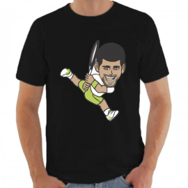 Imagem - Camiseta Djokovic Preta - Casa Do Tenista