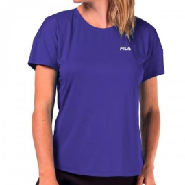 Imagem - Camiseta Feminina Basic Sports Azul - Fila
