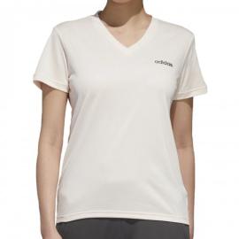Imagem - Camiseta Feminina Designed 2 Move Solid Branca e Rosa - Adidas