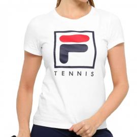 Imagem - Camiseta Feminina Soft Urban Branca, Marinho e Vermelha - Fila