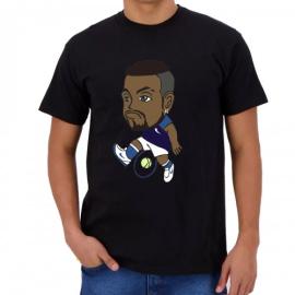 Imagem - Camiseta Infantil Kyrgios Preta - Casa Do Tenista