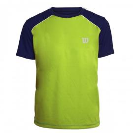 Imagem - Camiseta Infantil Tour Verde e Marinho - Wilson