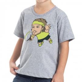 Imagem - Camiseta Infantil TsiTsipas Mescla Cinza - Casa Do Tenista