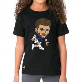 Imagem - Camiseta Infantil Wawrinka Preta - Casa Do Tenista