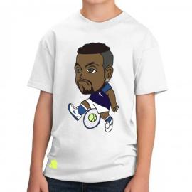 Imagem - Camiseta Infantil Kyrgios Branca - Casa Do Tenista