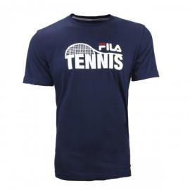 Imagem - Camiseta Tennis Racket Azul Marinho - Fila