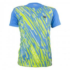 Imagem - Camiseta Performance II Infantil Azul e Verde - Wilson