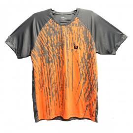 Imagem - Camiseta Performance Laranja e Cinza  - Wilson