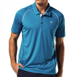 Imagem - Camiseta Polo Cinci  Azul Petroleo e Branca - Fila