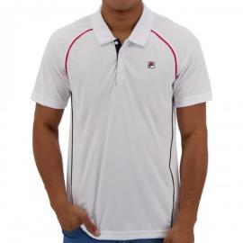 Imagem - Camiseta Polo Cinci Branca e Marinho - Fila