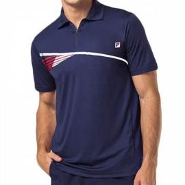 Imagem - Camiseta Polo Team 84 Marinho e Vermelha  - Fila