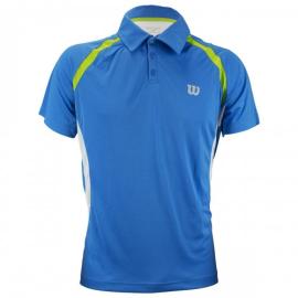 Imagem - Camiseta Polo Tour III Azul e Limão - Wilson