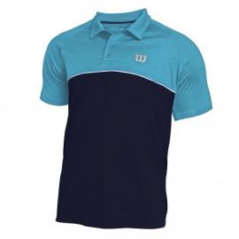 Imagem - Camiseta Polo Tour IV Marinho e Turquesa - Wilson