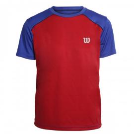 Imagem - Camiseta Infantil Tour Vermelha e Azul - Wilson