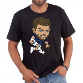 Imagem - Camiseta Wawrinka Preta - Casa Do Tenista
