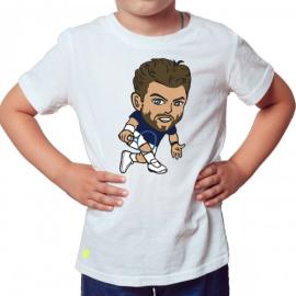 Imagem - Camiseta Infantil Wawrinka Branca - Casa Do Tenista