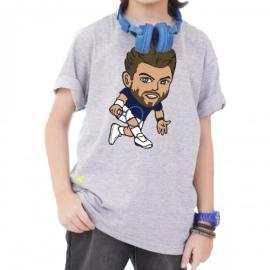 Imagem - Camiseta Infantil Wawrinka Mescla Cinza - Casa Do Tenista