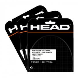 Imagem - Corda Synthetic Gut Power 17 1.25mm Branca Pack Com 03 Set Individual - HEAD