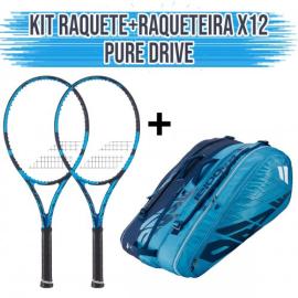 Imagem - Kit 2 Raquetes de Tênis Pure Drive 300G L3 + Raqueteira Pure Drive X12 - Babolat