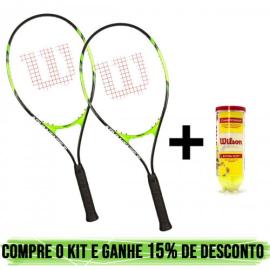 Imagem - Kit 02 Raquetes Advantage xl + Tubo Championship - Wilson
