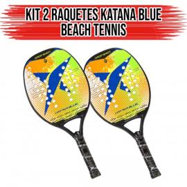Imagem - Kit 02 Raquetes de Beach Tennis Blue Katana - Drop Shot