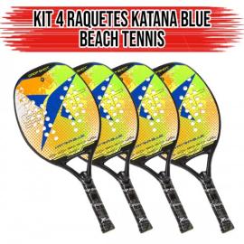 Imagem - Kit 04 Raquetes de Beach Tennis Blue Katana - Drop Shot