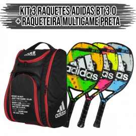 Imagem - Kit 3 Raquetes de Beach Tennis BT 3.0 + Raqueteira Multigame - Adidas