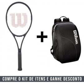 Imagem - Kit Raquete de Tênis Pro Staff 97 Countervail Black 16x19 315g + Mochila Federer Team - Wilson