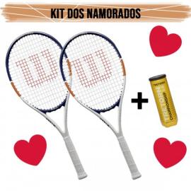 Imagem - Kit Namorados 02 Raquetes de Tênis Roland Garros Elite 2020 - Wilson