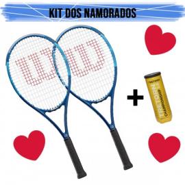 Imagem - Kit Namorados Raquete de Tenis Ultra Power Team 103 L3 e L2 + Tubo De Bola Championship - Wilson