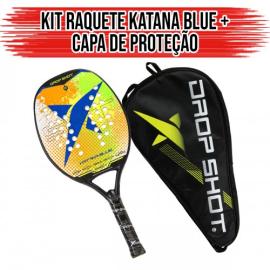 Imagem - Raquete de Beach Tennis Blue Katana Com Capa - Drop Shot