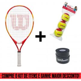 Imagem - Kit Raquete de Tênis Infantil US Open 21 Mais Bola Vermelha e Overgrip Ultra Wrap - Wilson